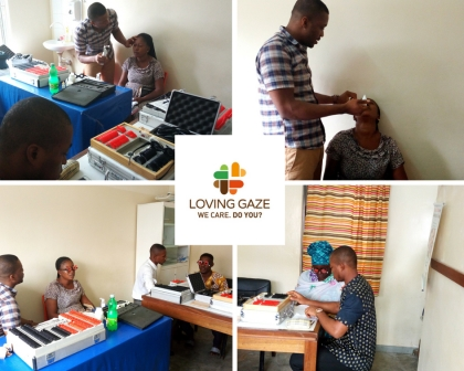 Eye Test St Kizito Clinic