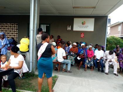 Eye Test at St Kizito Clinic, Lagos