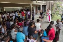 His Excellency, Antonio Filipazzi, apostolic nuncio in Nigeria addressing St Kizito Clinic patients and staff