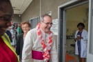 His Excellency, Antonio Filipazzi, apostolic nuncio in Nigeria visitng St Kizito Clinic