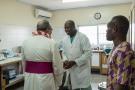 His Excellency, Antonio Filipazzi, apostolic nuncio in Nigeria visiting St Kizito Clinic laboratory