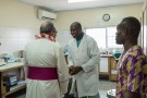 His Excellency, Antonio Filipazzi, apostolic nuncio in Nigeria visiting St Kizito Clinic laboratory
