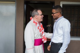 His Excellency, Antonio Filipazzi, apostolic nuncio in Nigeria visiting St Kizito Clinic